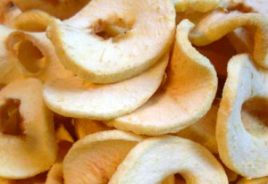 Healthy Home Dried Apple Rings make a Tasty Treat for your Dog